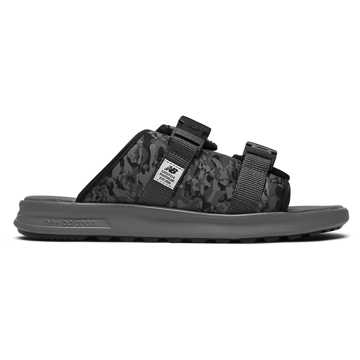 New Balance 拖鞋系列 男款 可拆卸鞋面 方便穿脱, 迷彩黑