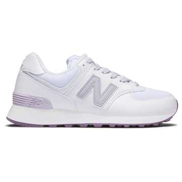 New Balance 574系列 女款 经典复古 春之森林, 白色