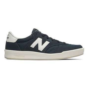 New Balance 300 Suede, Navy with Green
