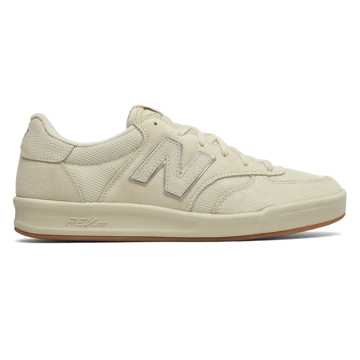 New Balance 300 Suede, Bone with Metallic Silver