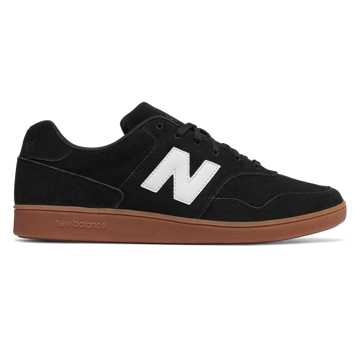 New Balance Split Suede 288, Black with White