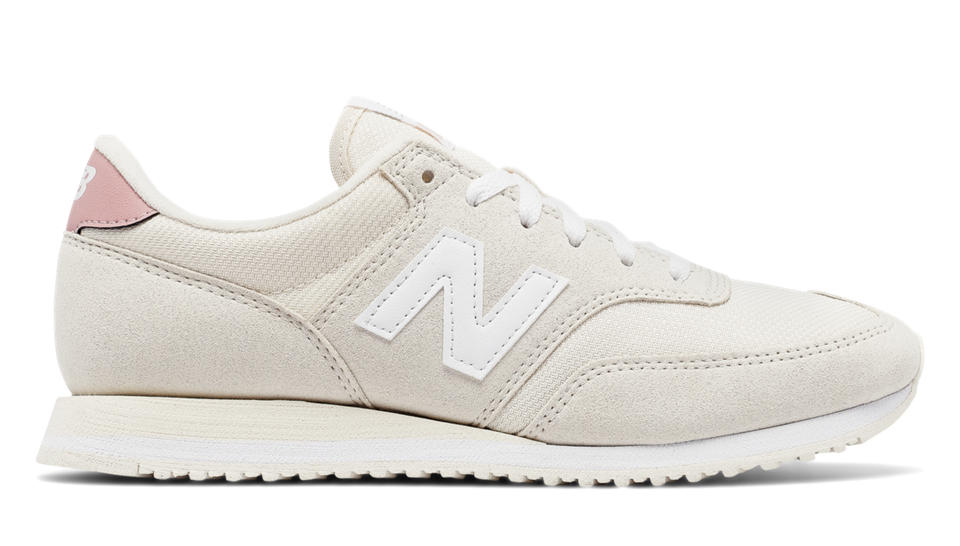 New Balance 620 70s Running, White Asparagus with Pink
