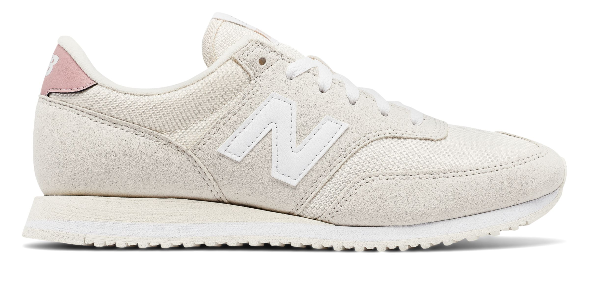 NB 620 70s Running, White Asparagus with Pink