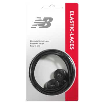 New Balance Elastic Laces, Black
