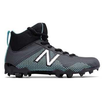 New Balance Junior FreezeLX, Black with Aquamarine
