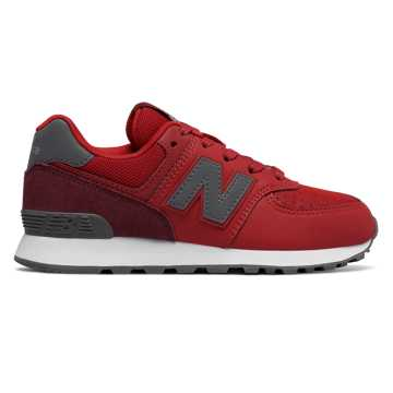 New Balance 574 Day and Night, Red with Grey