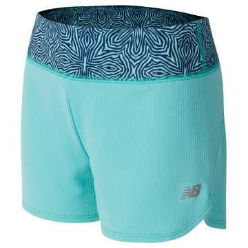 New Balance Knit Running Short, Aquarius