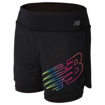New Balance Layered Bike Short, Black