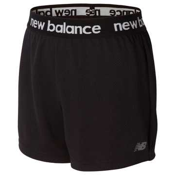 New Balance Core Performance Short, Black with Vivid Jade & Lime Glo