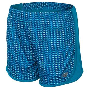 New Balance Print Performance Short, Ozone Blue Flash