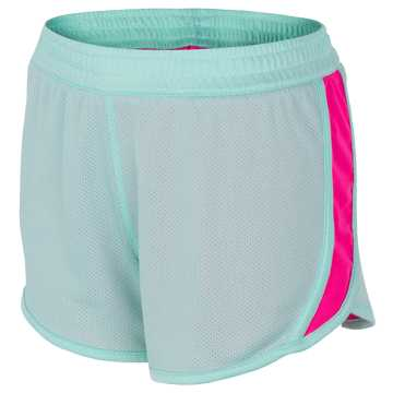 New Balance Reversible Fashion Short, Clear Sky with Alpha Pink