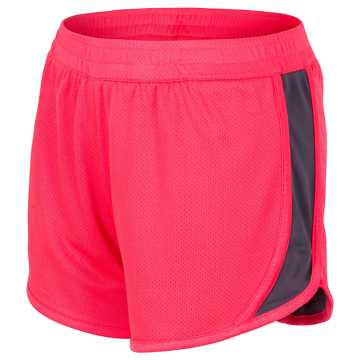 New Balance Reversible Fashion Short, Vivid Coral