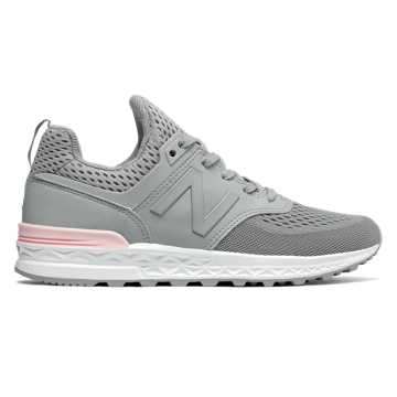 New Balance 574 Sport, Gunmetal with Sunrise Glo