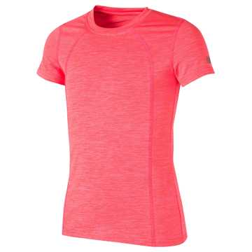 New Balance Short Sleeve Performance Tee, Alpha Pink with Sunrise