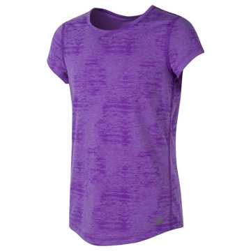 New Balance Short Sleeve Performance Tee, Alpha Violet Heather
