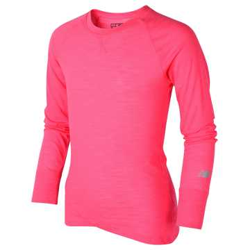 New Balance Long Sleeve Performance Tee, Alpha Pink
