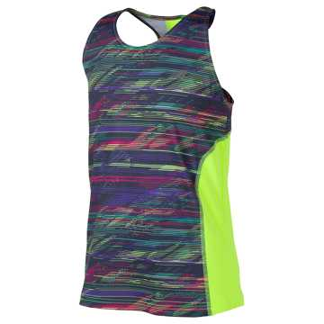 New Balance Fashion Performance Tank, Lime Glo