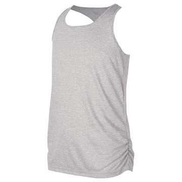 New Balance Fashion Athletic Tank, White with Black