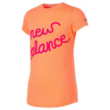 New Balance Short Sleeve Graphic Tee, Vivid Tangerine