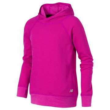 New Balance Hooded Pullover, Poisonberry with Mulberry