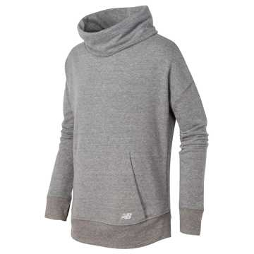 New Balance Funnel Neck Pullover, Heather Grey