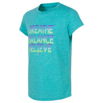 New Balance Short Sleeve Graphic Tee, Teal