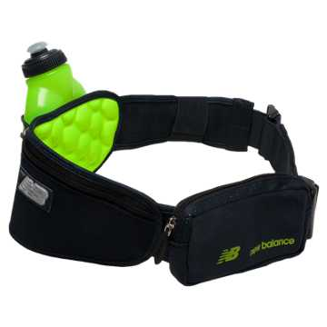 New Balance Helium 1 Bottle Hydration Belt, Toxic with Equinox