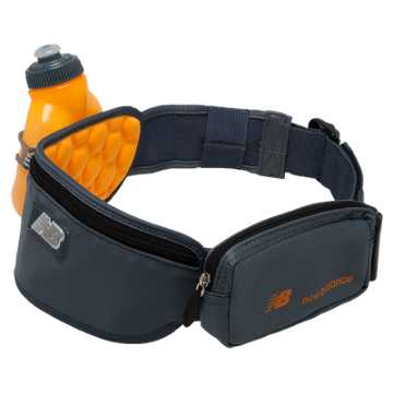 New Balance Helium 1 Bottle Hydration Belt, Impulse with Harbor Blue