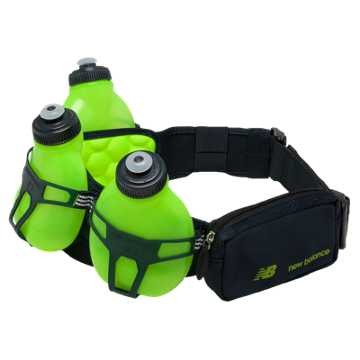 New Balance Helium H30 3 Bottle Hydration Belt, Toxic with Equinox