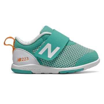New Balance 223系列儿童休闲运动鞋 柔软舒适 稳固平稳, 薄荷绿