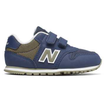 New Balance 500系列儿童休闲运动鞋 稳定缓震 休闲舒适, 深蓝色