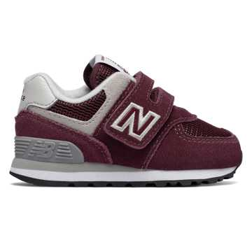 New Balance 574 Core, Burgundy with Grey