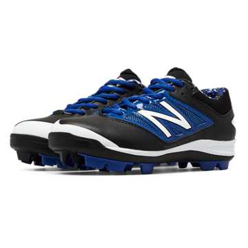 New Balance Low-Cut 4040v3 Rubber Molded Cleat, Black with Blue
