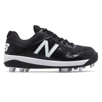 New Balance Junior 4040v4 Rubber Molded, Black with White