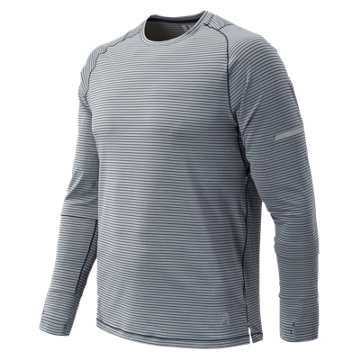 New Balance J.Crew Seasonless Long Sleeve Tee, Athletic Grey with Multi Color