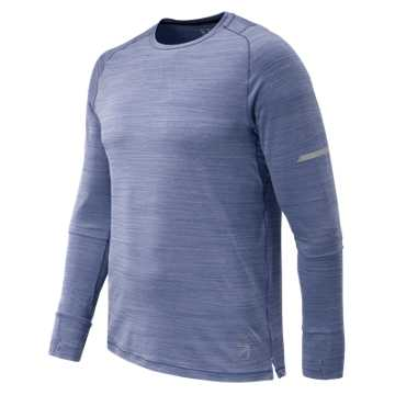 New Balance J.Crew Seasonless Long Sleeve Tee, Tempest Heather