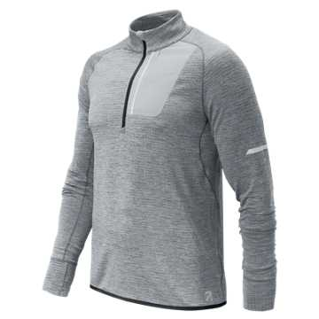 New Balance J.Crew NB Heat Half Zip, Athletic Grey