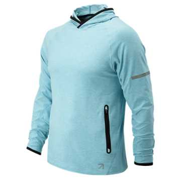 New Balance J.Crew N Transit Hoodie, Clear Sky Heather