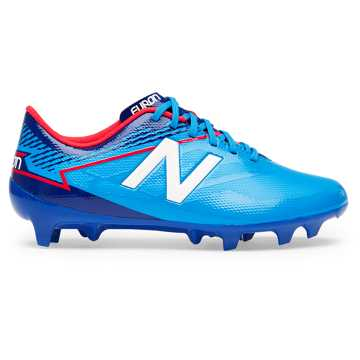 New Balance Junior Furon 3.0 Dispatch FG, Bolt with Royal Blue & Energy Red