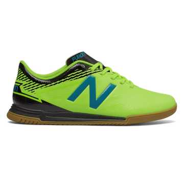 New Balance Junior Furon 3.0 Dispatch IN, Hi-Lite with Maldives Blue & Black