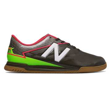 New Balance Junior Furon 3.0 Dispatch IN, Military Dark Triumph with Alpha Orange & Energy Lime