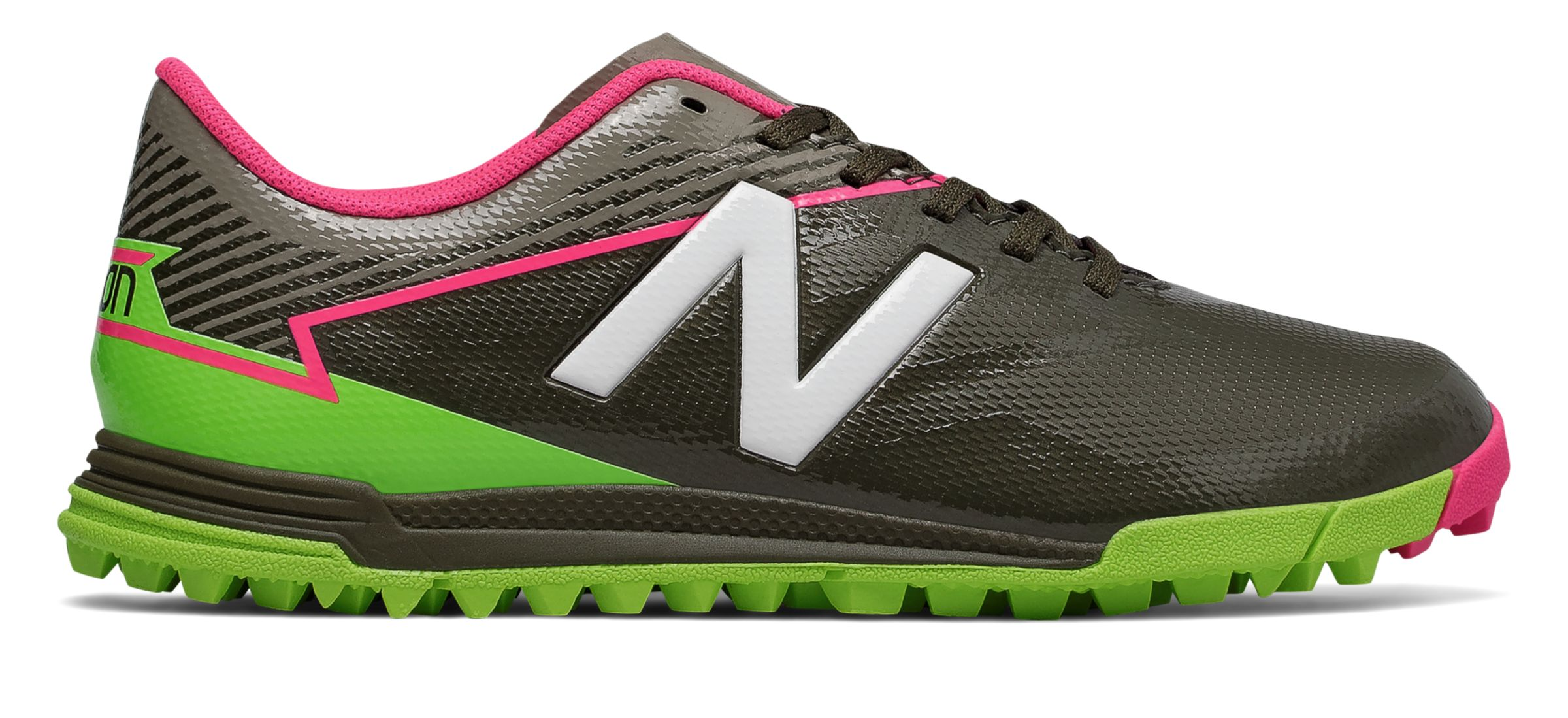 NB Junior Furon 3.0 Dispatch TF, Military Dark Triumph with Alpha Pink & Energy Lime