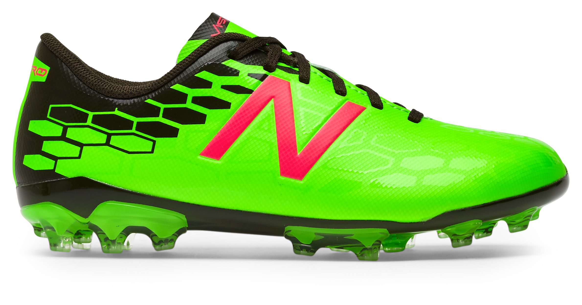 NB Junior Visaro 2.0 Control AG, Energy Lime with Military Dark Triumph & Alpha Pink