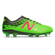 NB Junior Visaro 2.0 Control FG, Energy Lime with Military Dark Triumph & Alpha Pink
