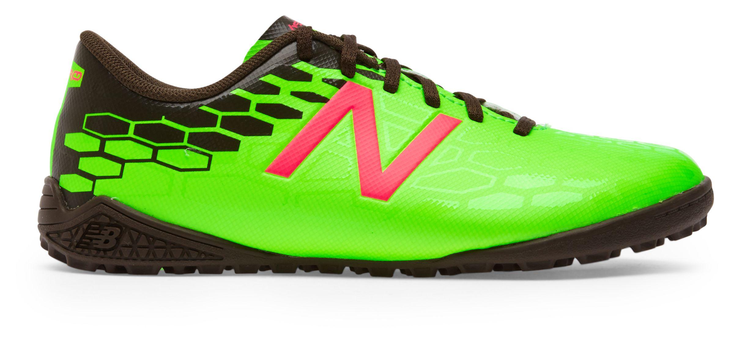 NB Junior Visaro 2.0 Control TF, Energy Lime with Military Dark Triumph & Alpha Pink