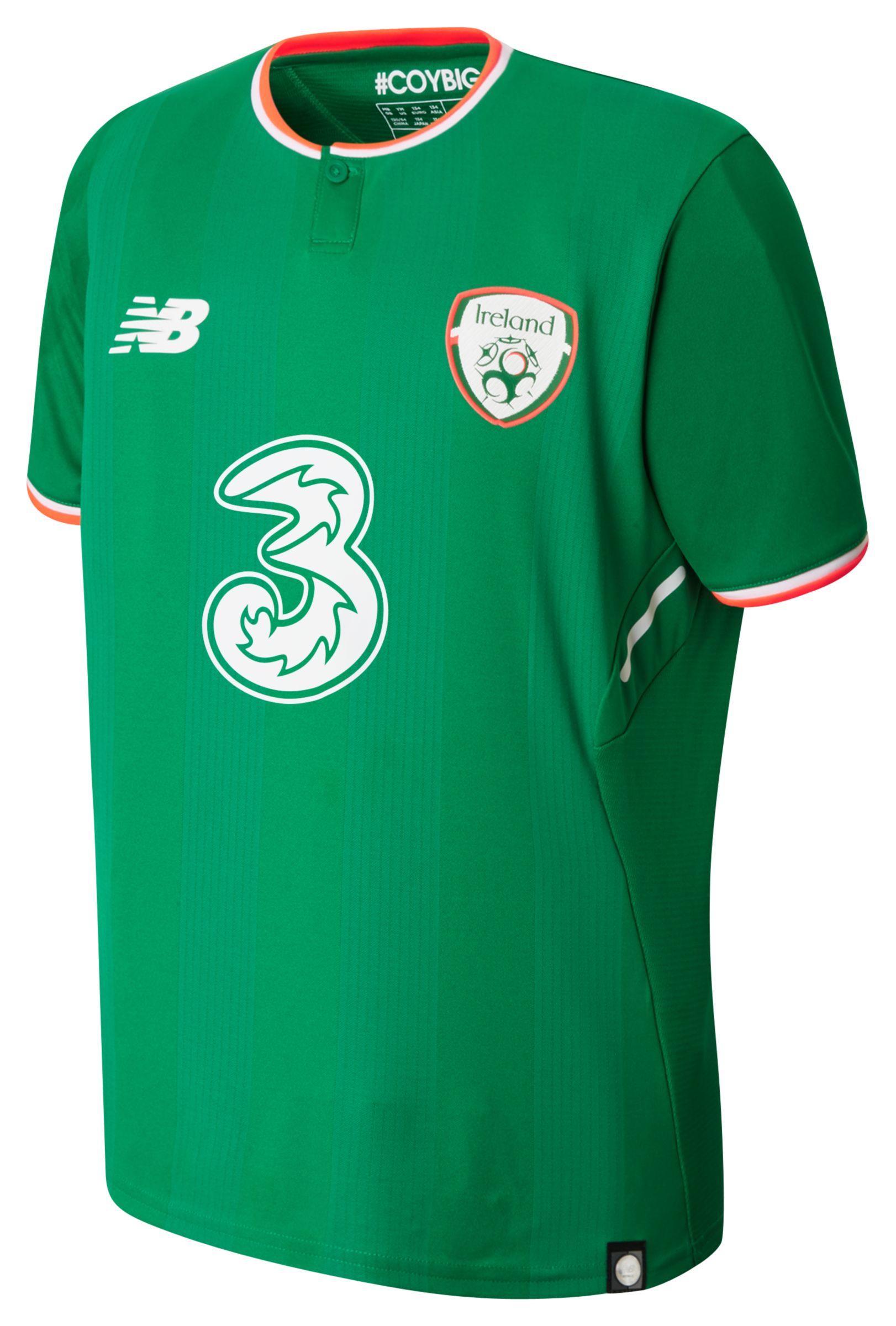 NB FA Ireland Junior Home SS Jersey, Jolly Green