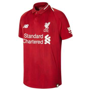 New Balance LFC Home Junior Short Sleeve Jersey, Red Pepper
