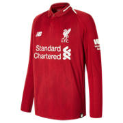 NB Liverpool FC Home Junior Long Sleeve Jersey, Red Pepper