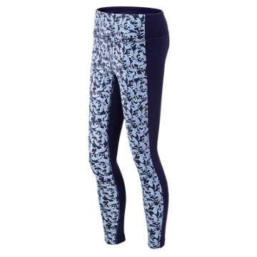 New Balance J.Crew Premium Performance Paneled Legging, Drakes Jaguar Print with Bayside