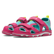 New Balance Expedition Sandal, Pink Zing with Blue Atoll